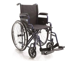 Carrozzina pieghevole Sedia a rotelle DOPPIA CROCIERA Disabili e Anziani Moretti