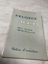 Manuel d'utilisation Peugeot