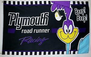 Plymouth Roadrunner Racing Premium Flag 3' x 5' Beep Beep (USA Seller)