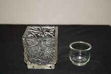 Collectible Avon 24% Lead Crystal votive candle holder