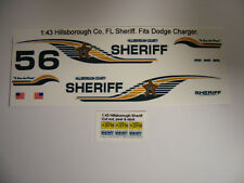 Hillsborough County, FL Sheriff 1/43 Water Slide Decal Set Fits Dodge Charger