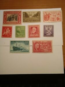 Old US Postage Stamps, All are Mint