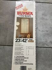 """Burma 1"""" Mini Blinds 23""""W x 42""""L  in Beige- Imported by Levolor-1985 -New In Box"""