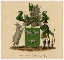 Antique Print-HERALDRY-COAT OF ARMS-VAN DEN SANTHEUVEL-Wenning-Rietstap-1883