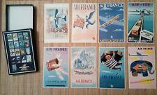 Série de 17 cartes postales dans sa boîte Air France Cargo 1933 1983 Aviation
