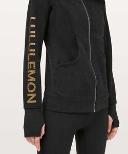 New Lululemon Cotton Fleece Scuba ZiP Hoodie lunar new year black- Rare Size 6