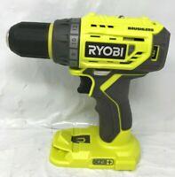 "RYOBI P252 18V Li-Ion ONE+ BrushLess 1/2"" Drill-Driver, w/ LED Light LN"
