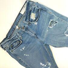 Rag & Bone Jeans 29 The Dre Boyfriend Slim Distressed Destroyed Ripped Hobo chic