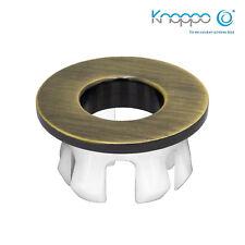 KNOPPO® Waschbecken Messing Abdeckung,Metall Überlaufblende - Eye Bronze brushed