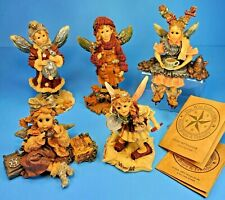 LOT of 5 Wee Folkstone Collection Fairy Figurines Limited Ed Boyds Bears Friends