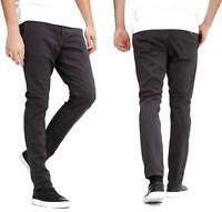 Mens Jack & Jones Chinos Slim Fit Marco Straight Leg Pants Trousers in Dark Grey