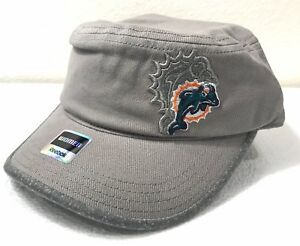 Miami Dolphins Women's Cadet Hat Military Style Cap New