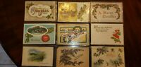 Vintage holiday postcard lot 50 cards Christmas New years Thanksgiving antique
