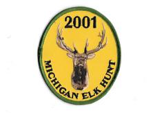 2001 MICHIGAN ATLANTA SUCCESSFUL ELK HUNTERS PATCH ~ MINT ~ FREE SHIP USA