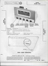 1954 PHOTOFACT Fisher AM FM Tuner Receiver Radio 70RT Manual #1252