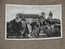 Nurnberg, Burg von Suden, used vintage card