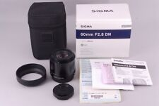 Sigma  A  60mm f/2.8 DN   Lens For  Micro Four Thirds   MINT   From JAPAN #0087