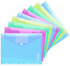 20 x Dokumentenmappe A4 Dokumententasche Aufbewahrungstasche vier Farben