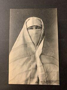 Algeria / Algérie - Arab Woman in traditional clothes PPC Postcard