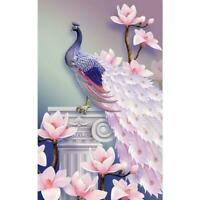 5D DIY Full Drill Square Diamond Painting Peacock Cross Stitch Kit Embroidery AU