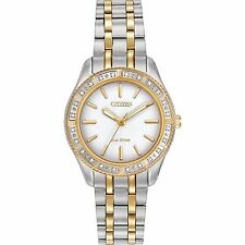 Citizen Eco-Drive Women's EM0244-55A Carina Diamond Bezel Two Tone Watch