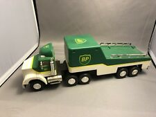 1993 Electronic Battery Operated BP Tractor Trailer Truck Race Car Hauler-No Car