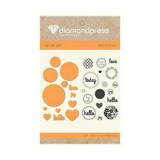 Crafters Companion Diamond Press mourir et Stamp Set-AMOUR D'AUJOURD'HUI
