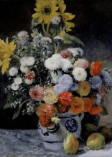 Mixed Flowers, 1869, PIERRE-AUGUSTE RENOIR Impressionism Art Poster