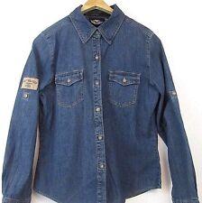 dd907b1e11a411 Harley Davidson Convertible LS Soft Blue Denim Jean Shirt Jacket 99005-05VW  SM