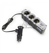 Universal IN-CAR USB and Triple Car Mobile Charger Socket