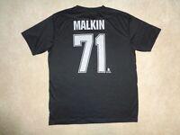 NHL Pittsburgh Penguins Evgeni Malkin #71 Black Polyester T-Shirt - Size L