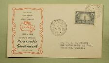 1948 CANADA FDC 100 YEARS RESPONSIBLE GOVERNMENT JCR CACHET