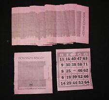 BINGO PAPER Cards 1 on BONANZA Tear Open 150 FREE SHIPPING  no duplicates