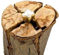 (NEW) Diamond Splitting Wedge Wood Grenade Log Splitter. Forged Steel Firewood