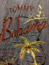 Tommy Bahama Mens L Blue/Grey 100% Silk Camp Shirt
