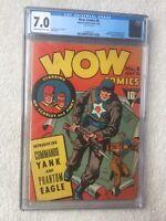 WOW Comics #6 CGC 7.0 Fawcett July 1942 Golden Age & FREE full color photocopy.