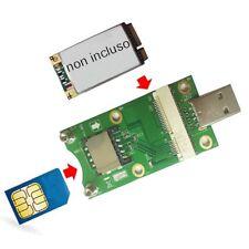 Raccomandata P. - Ricevitore per Mini PCI-E WWAN/LTE Module SIM card Slot a USB