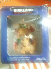 Kirkland Signature Christmas Reindeer and Kid  Christmas Tree Ornament New
