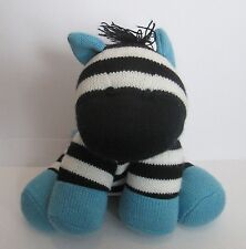 "SOCK ZEBRA 7"" PLUSH DOLL, Target Circo, Nursery Decoration"