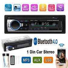 1Din Bluetooth Car Stereo In Dash Audio Radio MP3 Player Receiver FM USB AUX-IN