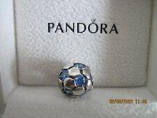 STERLING SILVER Pandora Blue Soccer Ball Charm