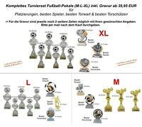 Fussball Pokale komplettes Turnierset nach Wahl inkl. Gravur ab 39,95 EUR