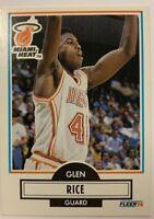 GLEN RICE 1990-91 Fleer Basketball #101  Rookie Card RC MIAMI HEAT