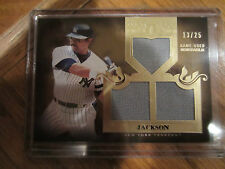 2011 TOPPS TIER ONE REGGIE JACKSON RARE TOP SHELF TRIPLE GAME USED CARD 13/25