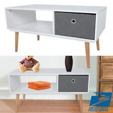 Modern Coffee Living Room Table Desk Side End Table w/ 1 Fabrics Storage Drawer