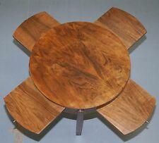 MID CENTURY MODERN DANISH SOLID ROSEWOOD COFFEE TABLE + SLIDING SERVING SHELVES