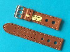 Vegi Ralley Uhrband braun 24 mm pflanzlich gegerbt Lederband Ersatzband
