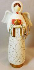 Beautiful Ceramic Angel Holding Gold Star