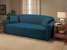 JERSEY FITTED COBALT SLIPCOVER FOR SOFA LOVESEAT CHAIR COUCH OR RECLINER  XX