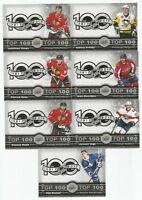 17/18 Tim Hortons Top 100 Complete Set #1-7 (Crosby, Kane, Toews, Jagr, ++)